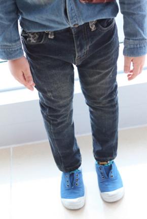 NO。(拉丝粘合)苹果日期跨度牛仔裤NA022