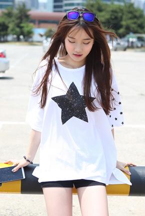 星星宽松Ť恤衫