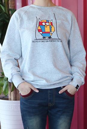 加绒(男/女众)M〜XXL <BR>猫头鹰运动衫