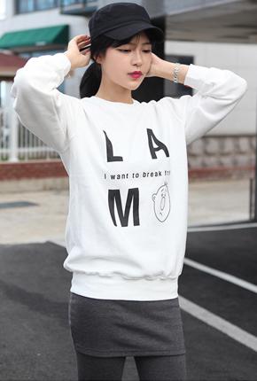 加绒(男/女众)M〜XXL <BR> L'人物运动衫