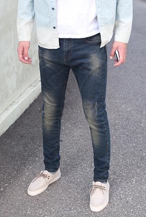 [NA649](男/女情侣) <BR> NA650(28〜36) <BR> Tineop蓝色紧身牛仔裤