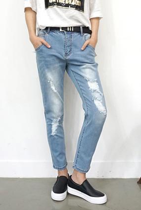 EJ109(S〜XL) <BR>甜蜜哈伦牛仔裤