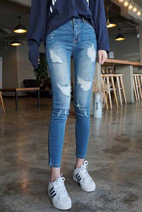 EJ115(25〜32) <BR>性感的伤害紧身牛仔裤