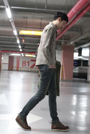 NO。(28~36)温暖拉丝衬里男士牛仔裤FXG-112