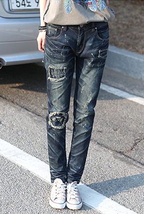 <FONT color=#f91305>超过16,000</font> <BR> NA309(S~XXL) <BR>绘画触摸댐Dam哈伦牛仔裤